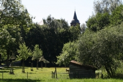 Nuth-141-Vergezicht-met-Schuurtje-en-Sint-Bavokerk